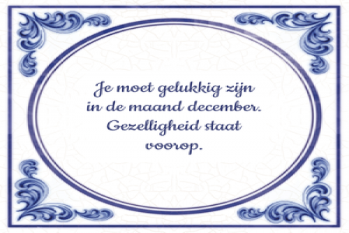 Het is weer december!